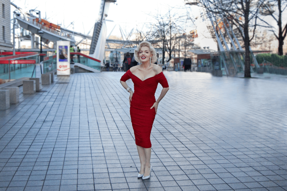 Marilyn Monroe lookalike for Merlin Events